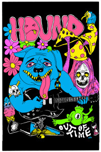 hound black light poster